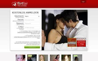 FlirtFair Webseiten Screenshot