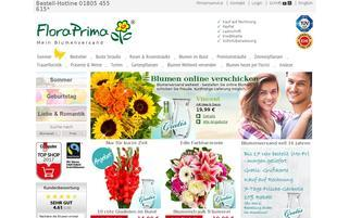 FloraPrima Webseiten Screenshot