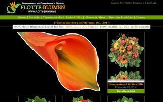 Flotte Blumen Webseiten Screenshot