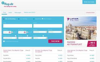 Flug.de Webseiten Screenshot