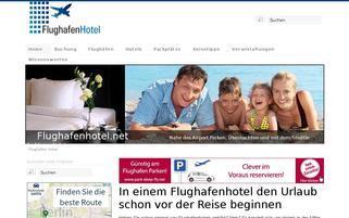 FlughafenHotel Webseiten Screenshot