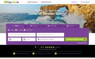 Flugladen Webseiten Screenshot