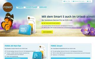 Fonic Webseiten Screenshot