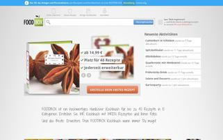 FOODBOX Webseiten Screenshot