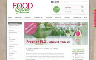 FoodOase Webseiten Screenshot