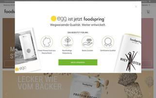 Foodspring Webseiten Screenshot