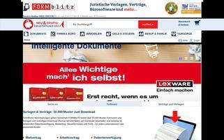 Formblitz Webseiten Screenshot