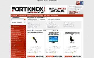 FortKnox Webseiten Screenshot