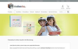FotoalbumShop Webseiten Screenshot