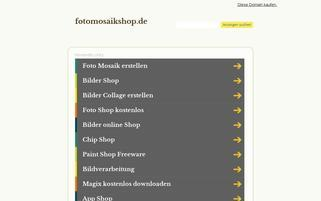 fotomosaikshop.de Webseiten Screenshot