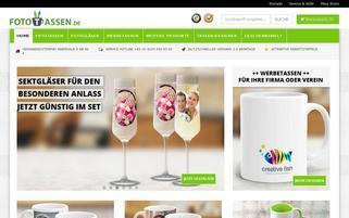 fototassen.de Webseiten Screenshot