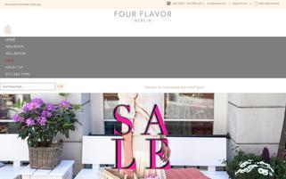 Four Flavor Webseiten Screenshot
