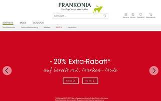 Frankonia CH Webseiten Screenshot