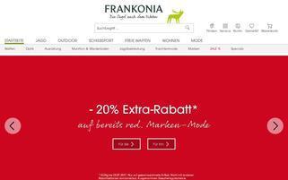 Frankonia Webseiten Screenshot