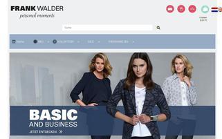 frankwalder.com Webseiten Screenshot