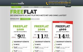 freenetMobile Webseiten Screenshot