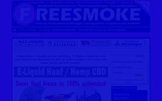 freesmoke.eu Webseiten Screenshot