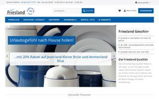 Friesland Versand Webseiten Screenshot