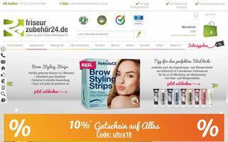 Friseurzubehör24 Webseiten Screenshot