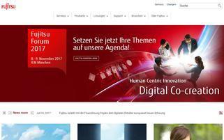 fujitsu.de Webseiten Screenshot