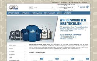 fun-tasse.de Webseiten Screenshot
