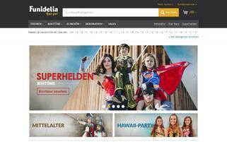 Funidelia AT Webseiten Screenshot