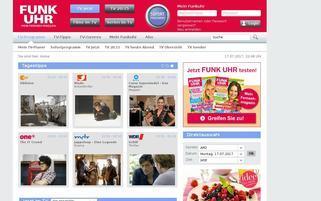 FUNK UHR Webseiten Screenshot