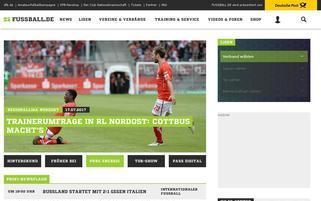 Fussball.de Webseiten Screenshot