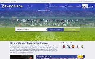 FussballTrip.de Webseiten Screenshot