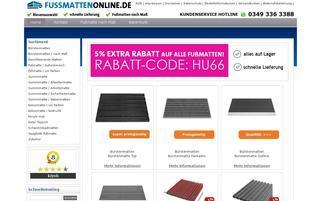 Fussmattenonline Webseiten Screenshot