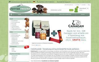 Futterfreund Webseiten Screenshot