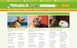 Futterplatz Webseiten Screenshot