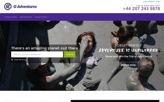 G Adventures Webseiten Screenshot