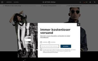 G-Star Webseiten Screenshot