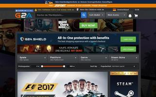 G2A Webseiten Screenshot