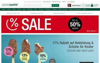 Galeria Kaufhof Webseiten Screenshot