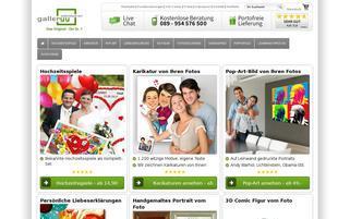 Galleryy Webseiten Screenshot