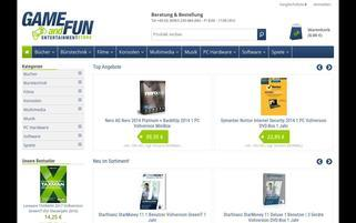 Game and Fun Webseiten Screenshot