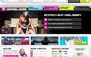Gameliebe Webseiten Screenshot