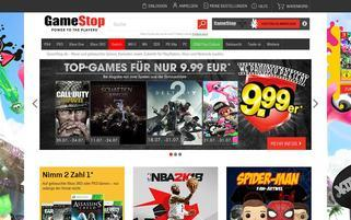 Gamestop Webseiten Screenshot