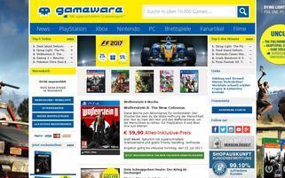 gameware Webseiten Screenshot