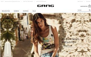 Gang Fashion Webseiten Screenshot
