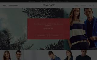 Gant Webseiten Screenshot