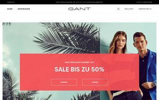 gant-shop.de Webseiten Screenshot