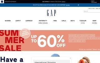 GAP Webseiten Screenshot