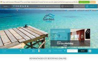 Garden Hotels Webseiten Screenshot