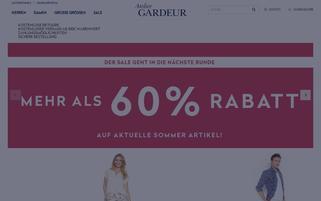 gardeur-store.de Webseiten Screenshot