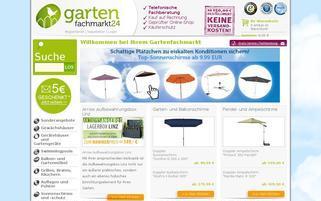 Gartenfachmarkt24 Webseiten Screenshot