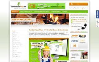 Gartenhaus Plus Webseiten Screenshot