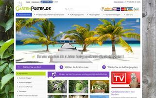GartenPoster Webseiten Screenshot